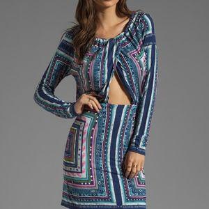 Mara Hoffman Ruched Magic Carpet Keyhole Dress